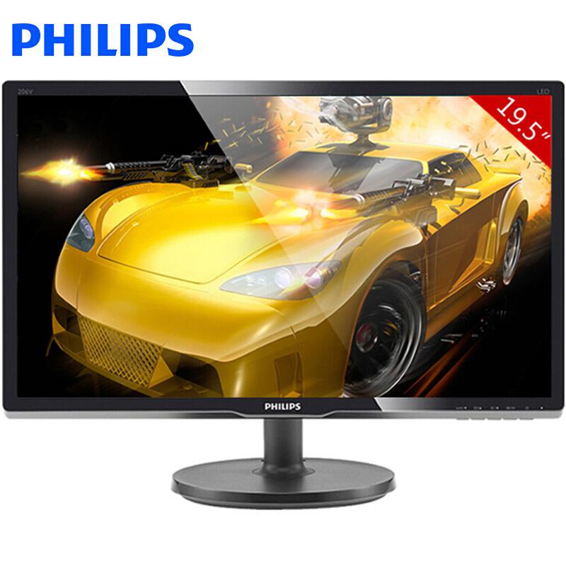 飞利浦(PHILIPS) 206V6QSB6 19.5如何下载伟德ios版LED背光宽屏 IPS液晶显示器 黑色