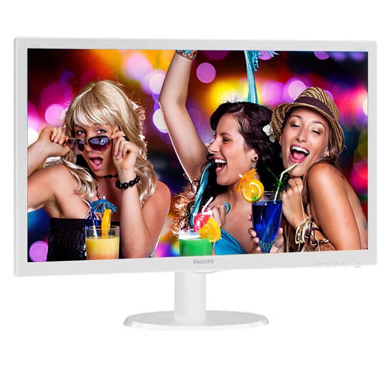 飞利浦 243V5QSB  23.6如何下载伟德ios版高清电脑液晶显示器细窄边框LED宽屏广视角商务办公游戏可壁挂显示器 白色