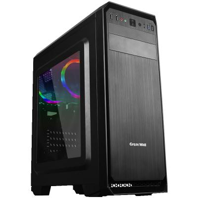 长城(GreatWall)启程2 M-50电竞游戏电脑机箱黑色 水冷/亚克力大侧透 M-50