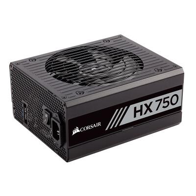 美商海盗船HX750海盗船额定750W台式机电脑静音电源白金牌全模组