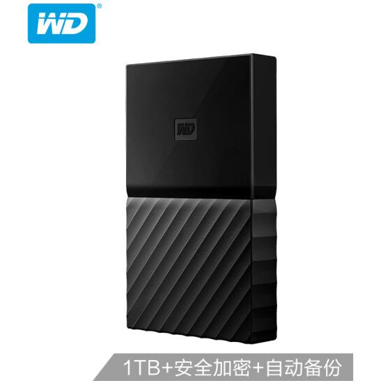 西部数据(WD)1TB USB3.0移动硬盘My Passport 2.5如何下载伟德ios版 经典黑(硬件加密 自动备份)WDBYNN0010BBK