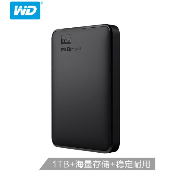 西部数据(WD)1TB USB3.0移动硬盘Elements 新元素系列2.5如何下载伟德ios版(稳定耐用 海量存储)