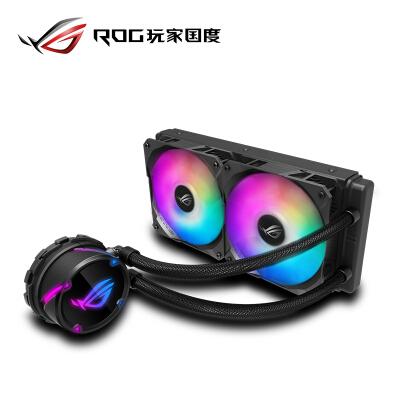 华硕(ASUS)ROG STRIX LC 240 RGB版飞龙系列一体式CPU水冷散热器 RGB神光同步灯效【 静音/240mm冷排】
