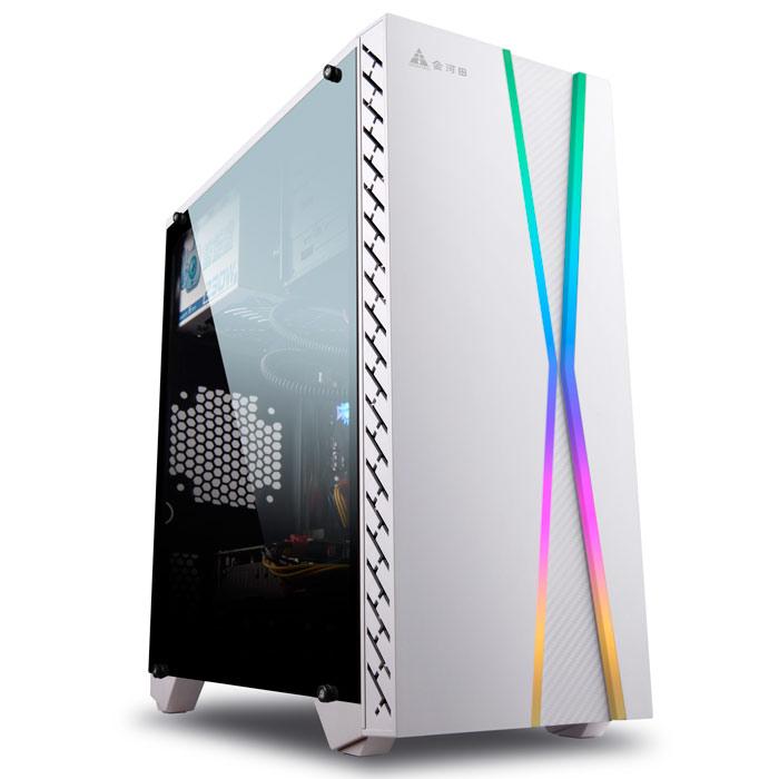 金河田预见M8W 电脑机箱台式机MATX电竞水冷游戏主机箱外壳 预见M8白色