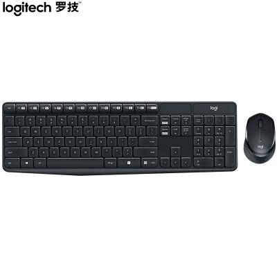 罗技(Logitech)MK315 键鼠套装 无线键鼠套装 办公键鼠套装 静音 全尺寸 黑色 带无线2.4G接收器