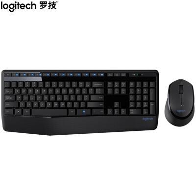 罗技(Logitech)MK345 键鼠套装 无线键鼠套装 办公键鼠套装 全尺寸 黑色 带无线2.4G接收器