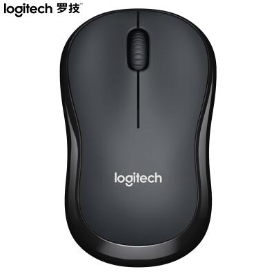 罗技(Logitech)M220 鼠标 无线鼠标 办公鼠标 静音鼠标 对称鼠标 灰黑色 自营 带无线2.4G接收器