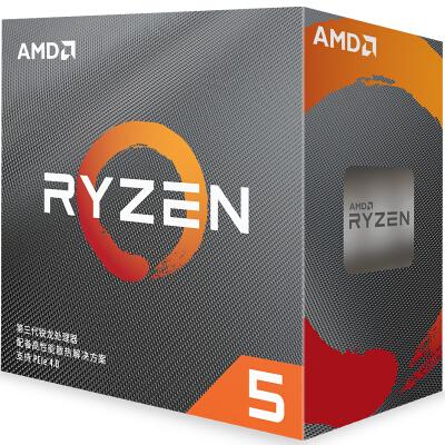 AMD锐龙R5 3500X AM4接口盒装CPU处理 3500X 3.6GHz 6核6线程
