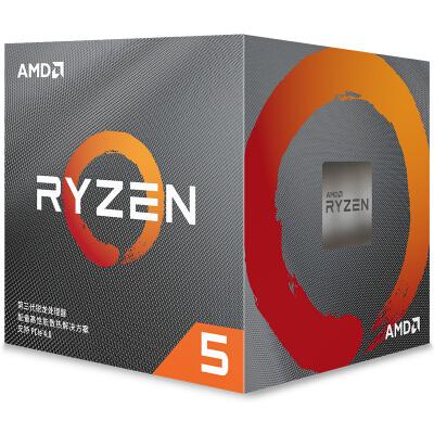 AMD 锐龙5 3600X 处理器 (r5)7nm 6核12线程 3.8GHz 95W AM4接口 盒装CPU