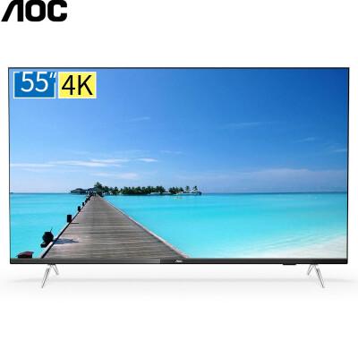AOC 冠捷 50如何下载伟德ios版4K超清电视 全面屏网络智能电视机 AI人工智能 HDR安卓5.1 50I3 黑色