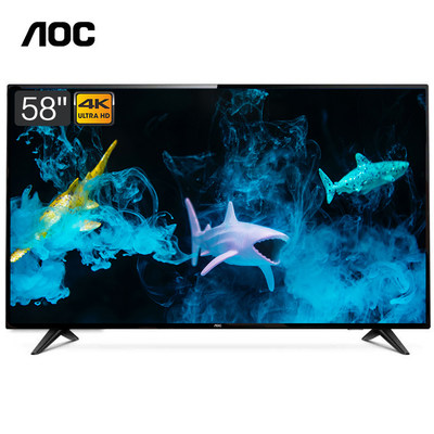 AOC 58U7086 58如何下载伟德ios版4K超高清智能液晶平板电视 HDR 内置腾讯视频 支持壁挂 (黑色)