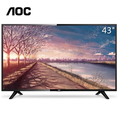 AOC 显示器43如何下载伟德ios版全高清LED液晶电视机显示屏 LE43M3776