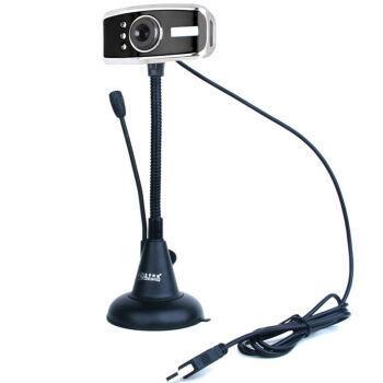 蓝色妖姬T91 高清摄像头夜视灯免驱带麦克风拍照远程教学视频头