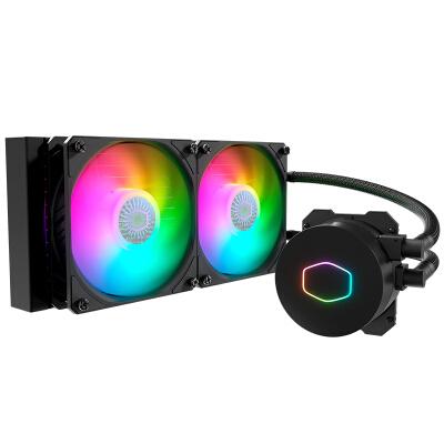 酷冷至尊( CoolerMaster )B240 ARGB CPU水冷散热器(I9 2066、AM4/ARGB灯珠/双腔水泵/低阻冷排)