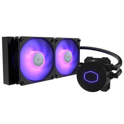 酷冷至尊(CoolerMaster)冰神B240RGB CPU水冷散热器(支持I9 2066、AM4/双腔水泵/微流道设计/均衡型风扇)