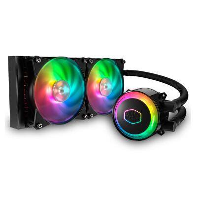 酷冷至尊(CoolerMaster)冰神G240RGB CPU水冷散热器(I9 2066、AM4/ARGB灯珠/双腔水泵/低阻冷排/FEP水冷管)