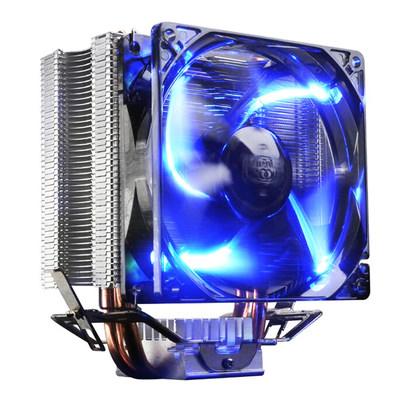 超频三红海智能版cpu散热器 led蓝光智能风扇amd英特尔cpu风扇