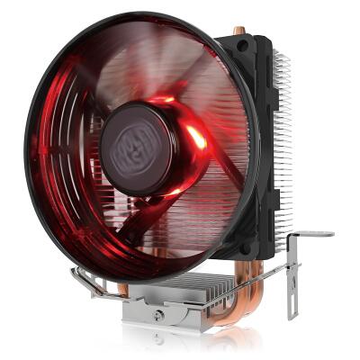 酷冷至尊(Cooler Master) T20红光版 CPU散热器(支持多平台/2热管/传Fin工艺/80mm风扇/可拆装扣具/直触热管)
