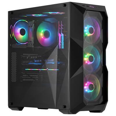 酷冷至尊(coolermaster)TD500L 台式电脑主机中塔机箱(ATX主板/透明立体设计前面板和侧板/独立电源仓)