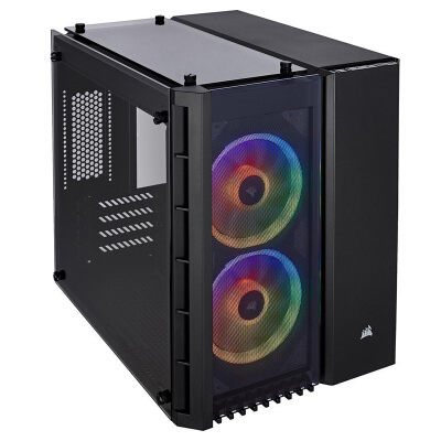 美商海盗船 280X TG RGB 玻璃侧透游戏台式电脑水冷迷你机箱支持280mm水冷散热器 280X RGB 白色/黑色