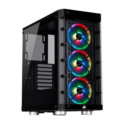 美商海盗船(USCORSAIR)465X RGB中塔侧透钢化玻璃 台式机电脑机箱 RGB炫彩灯光 iCUE 465x RGB 黑色/白色