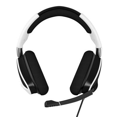 美商海盗船 (USCORSAIR) 天行者VOID RGB ELITE USB 白色/黑色 游戏伟德国际bv 头戴式伟德国际bv 有线连接 炫彩背光 多平台支持