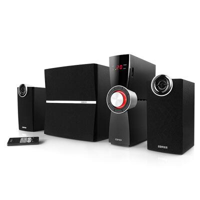 漫步者(EDIFIER)C2X 外置功放 全木质音箱 音响 电脑音箱 黑色
