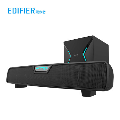 漫步者(EDIFIER)HECATE G7000 DTS环绕声5.8G无线低音炮RGB灯 电竞游戏蓝牙音箱桌面电脑电视音响回音壁