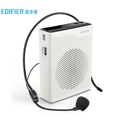 漫步者(EDIFIER)MF5 轻便版 便携式数码扩音器 小蜜蜂大功率教学专用教师导游扩音器 唱戏机 白色
