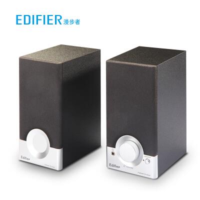 漫步者(EDIFIER) R18T 2.0声道 木质多媒体音响音箱 电脑音响 黑色