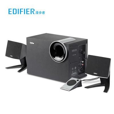 漫步者(EDIFIER) R201T北美 2.1声道 多媒体音箱 音响 电脑音箱 黑色