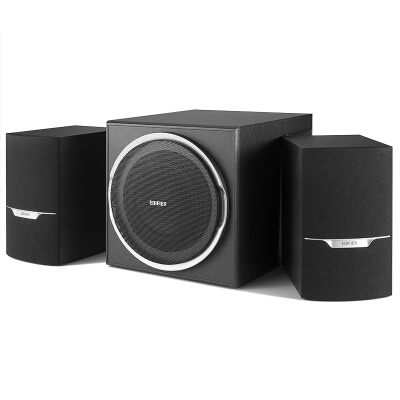漫步者(EDIFIER)R303BT 大功率2.1低音炮 全木质蓝牙音箱 音响 多媒体音箱 电脑音箱 黑色