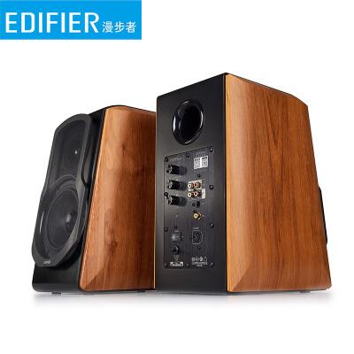 漫步者(EDIFIER) S1000MA 音响电脑台式无线蓝牙HIFI电视机音箱家用智能WIFI 棕木纹
