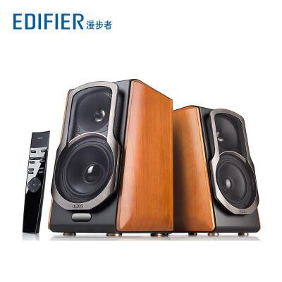 漫步者(EDIFIER) S2000MKII 无线蓝牙2.0HIFI音响电脑书架音箱木质 木纹色