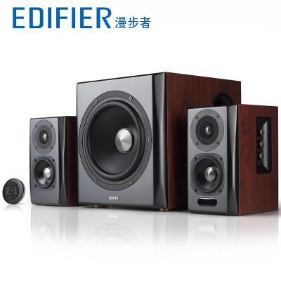 漫步者(EDIFIER) 漫步者电视音响 全木质立体声蓝牙4.0客厅内置功放音箱S201
