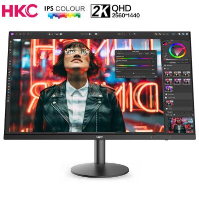 HKC/惠科 27如何下载伟德ios版 2K高清 IPS直屏 三边微边框 DCI-P3色域 快拆壁挂 电脑液晶显示器 T278Q