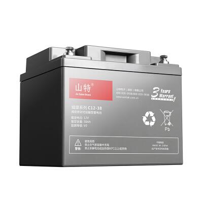 山特(SANTAK)C12-38 山特UPS电源电池免维护铅酸蓄电池 12V38AH