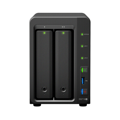 synology群晖DS718+网络存储服务器nas存储DS716+II升级私有云 DS718+官方标配